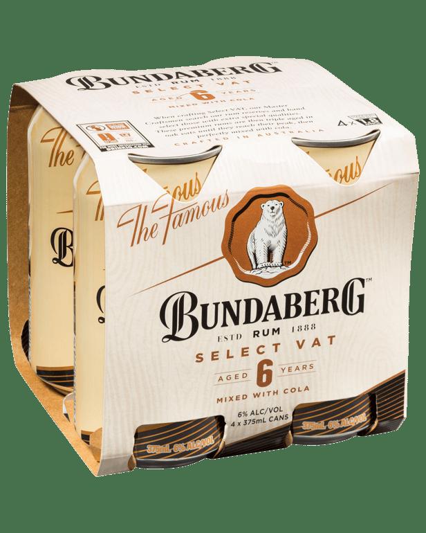バンダバーグセレクトバットラム&コーラ缶375ml 4パック